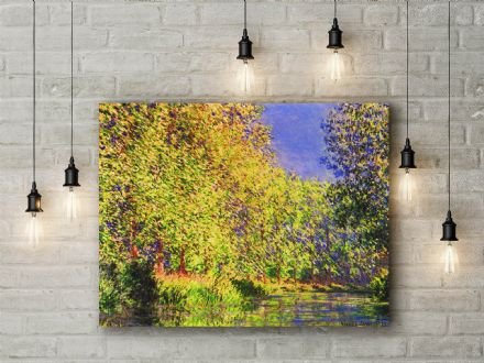 Claude Monet: A Bend of the River Epte, Giverny. Fine Art Canvas.